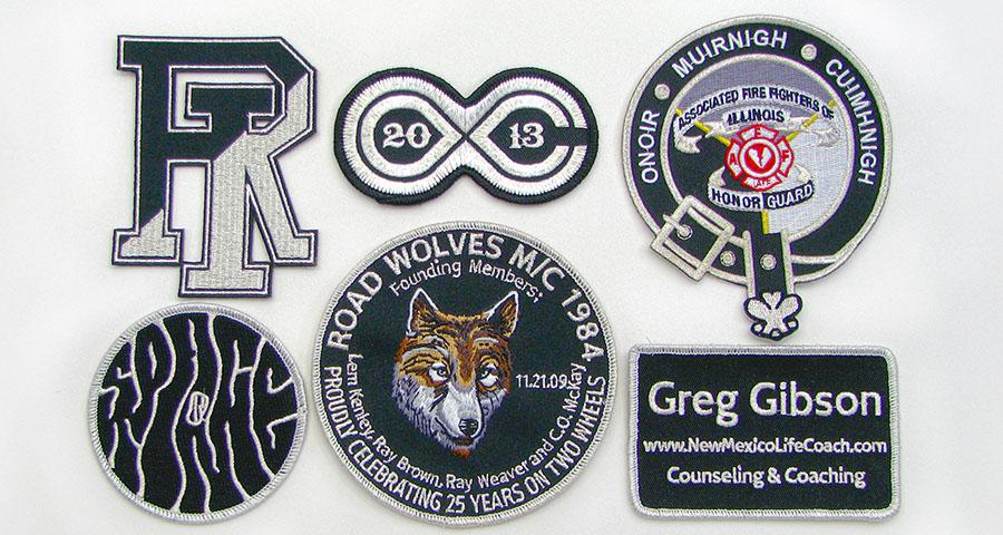 metallic thread patches